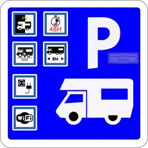panneau stationnement filigrame