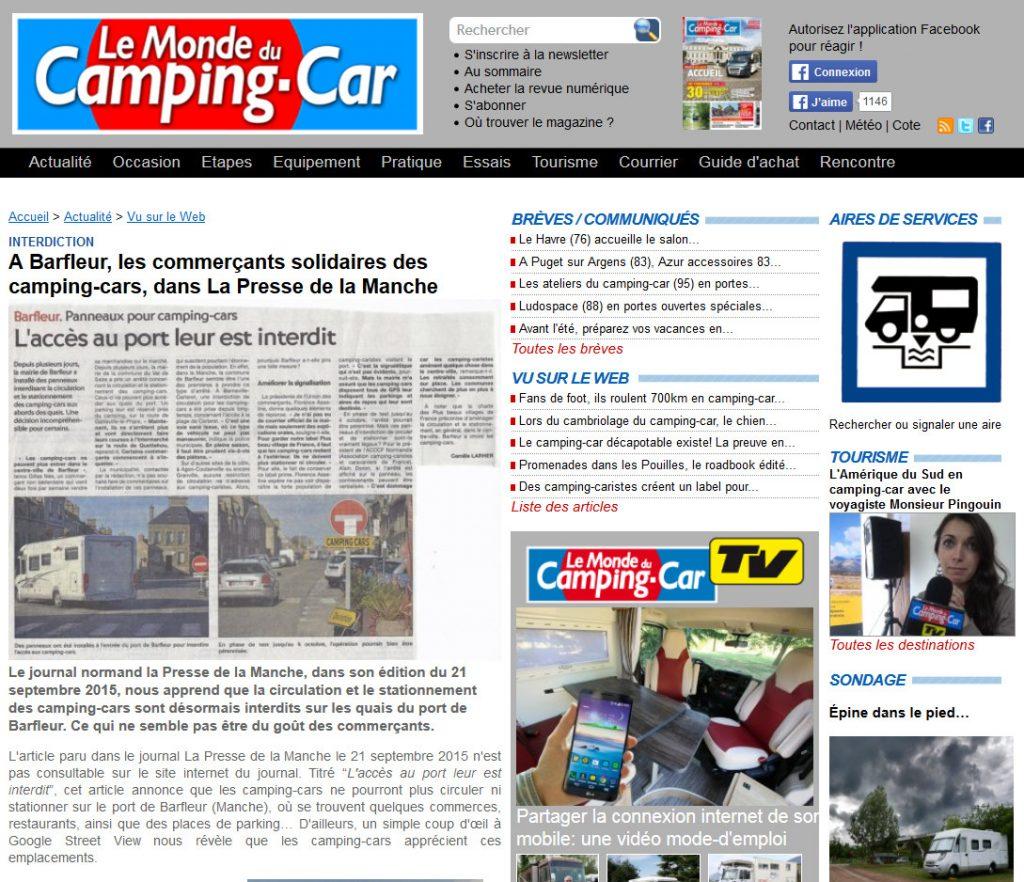 A Barfleur, les commerçants solidaires des camping-cars