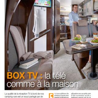Box TV camping car